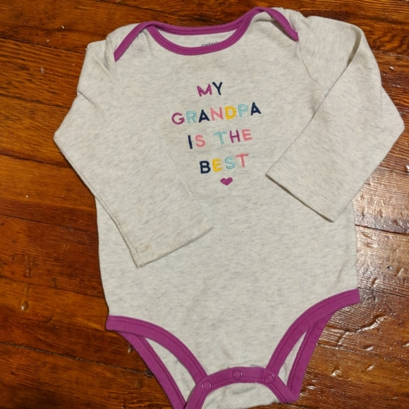 Carter's Other - My grandpa is the best onsie